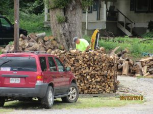 Firewood is big business in Helen.  Most all our winter guests stop in a place like this to have a wood fire.