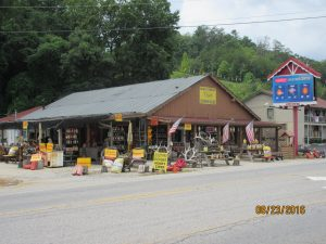 Many local businesses sell local mountain goods--even moonshine!!