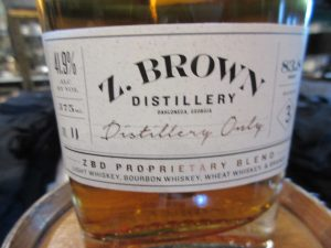 Z. Brown's label. They produce an amazing variety of liquors.